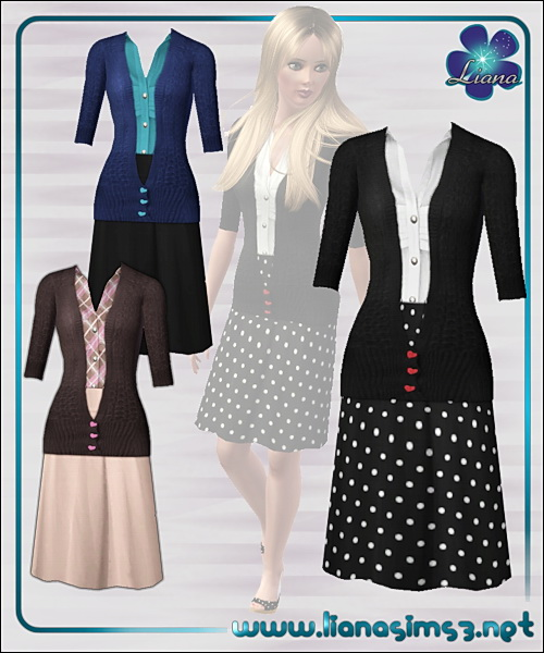 Recolorable cardigan outfit, new mesh