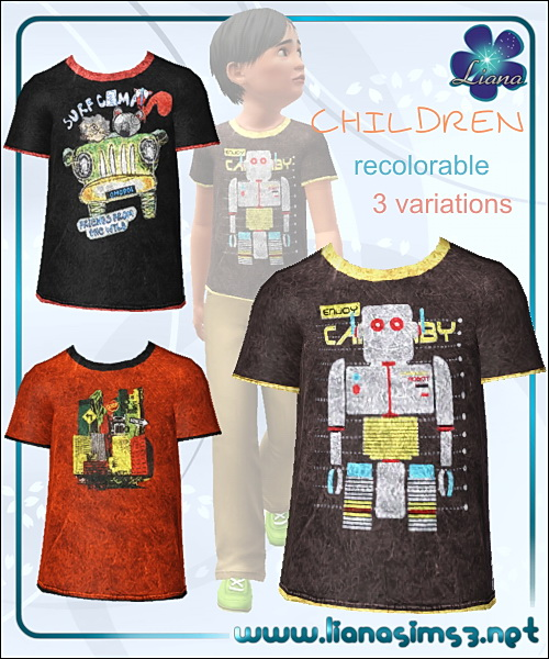 Boy t-shirt with 3 variations