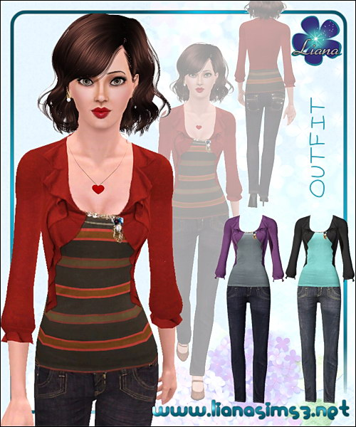 Skinny jeans and blazer everyday outfit, recolorable.