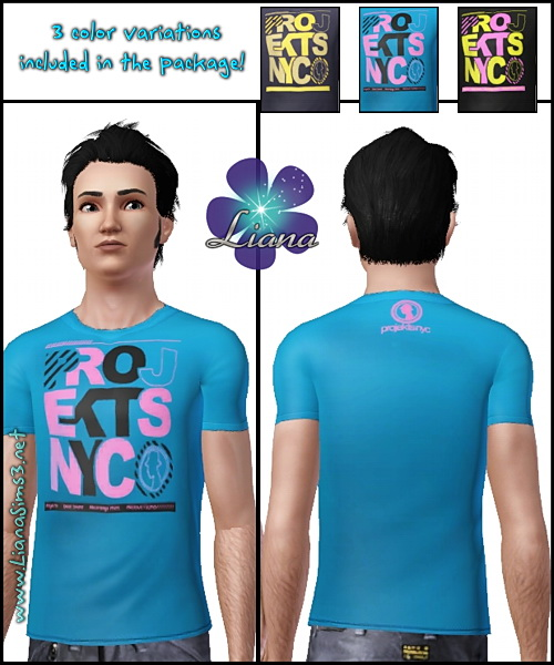 Package format! Projekts NYC Fac51 T-Shirt for men, available with 3 included variations, you can change the colors to all of them in 3 areas!