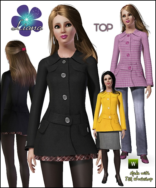 Fashion and trendy wool jacket for your sims!