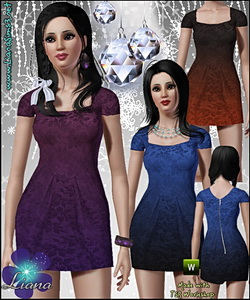 Brocade 2-tone tulip dress! *Recolorable*