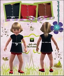 Toddler outfit: recolorable tweed dress