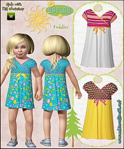 Colorful dress for toddlers, recolorable