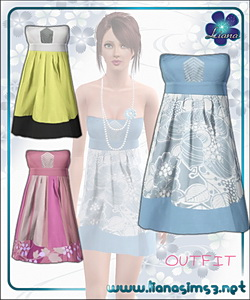 Flirty tube dress, recolorable.