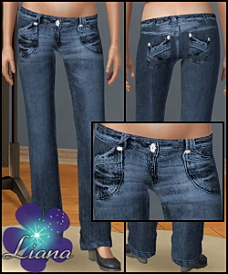 Low rise boot cut jeans for sims3!
