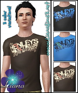 Package format! Henleys Synergy T-Shirt for men, available with 3 included variations, you can change the colors to all of them in 3 areas!