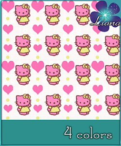 Hello Kitty pattern in 4 colors - best suited for children: wallpapers, carpets, furniture and clothes! See the alternate colors for more combinations!