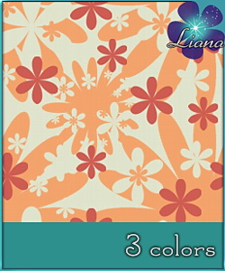 Floral abstract pattern - you can use it on clothes, wallpapers, bedding, curtains.