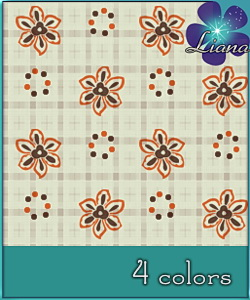 Floral abstract pattern - you can use it on rugs, clothes, wallpapers, bedding, curtains.