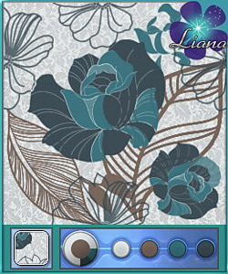 New pattern in 4 colors - you can use it for fashion, bedding and furniture!