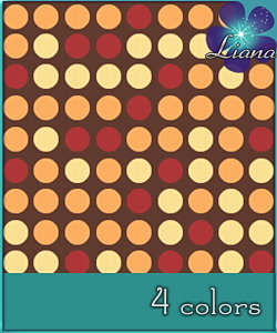Dotted pattern in 4 colors - you can use it for fashion, bedding and decor!