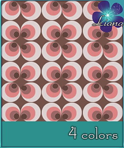 Magical circles pattern in 4 colors - you can use it for fashion, bedding and decor! See the alternate colors for more combinations!