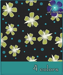 Floral Pattern for Sims3 in 4 colors!
