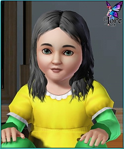 Emily Montana - sims3 model - toddler girl